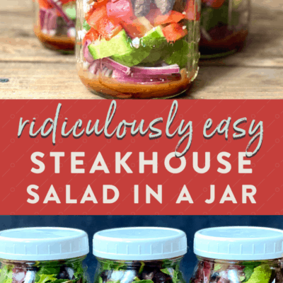 Steak Salad In A Jar {Meal Prep Idea}