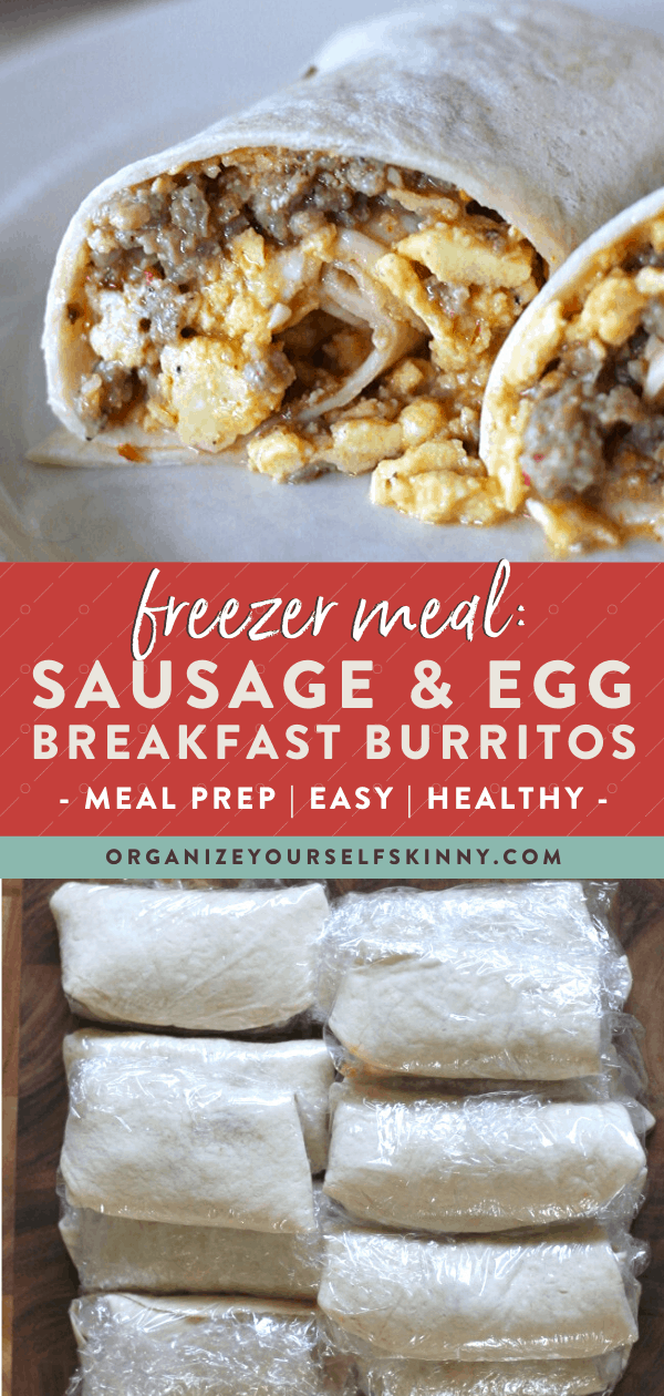 Freezer burritos with sausage and egg
