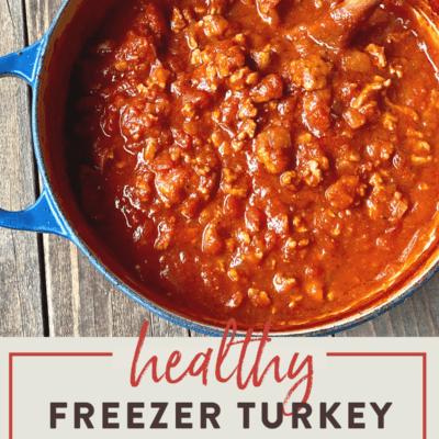 Healthy Stovetop Turkey Bolognese {Freezer Recipe}