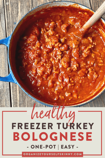 Healthy Stovetop Turkey Bolognese {Freezer Recipe}