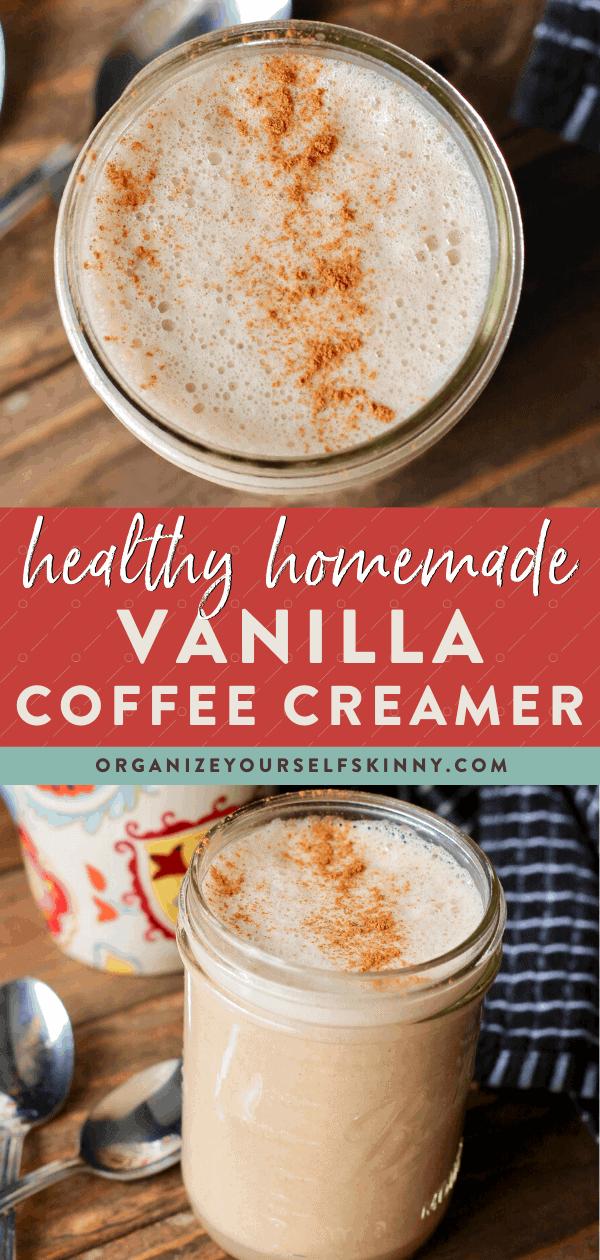 Homemade Coffee Creamer Vegan Recipe Organize Yourself Skinny