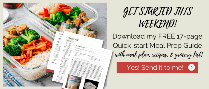 quick start meal prep guide