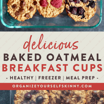 Baked Oatmeal Cups {Meal Prep & Freezer Tips}