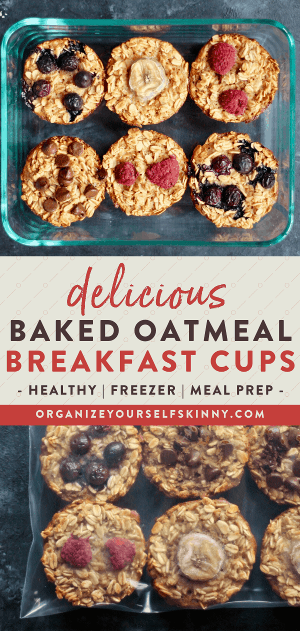 baked oatmeal cups meal prep and freezer