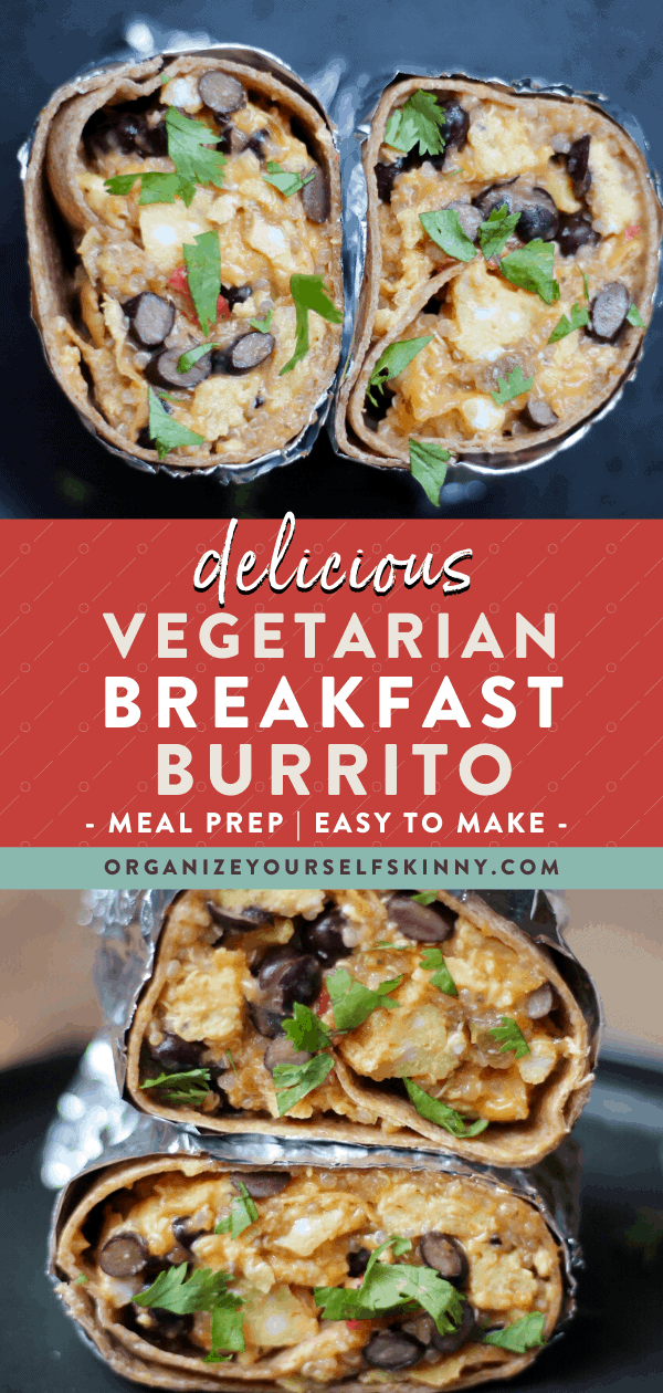 vegetarian breakfast burrito