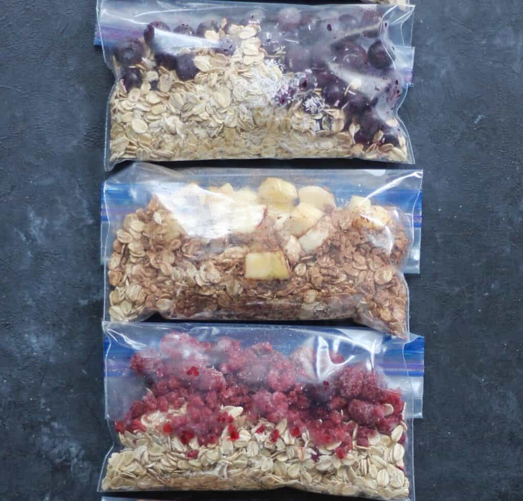 overnight oat freezer packs