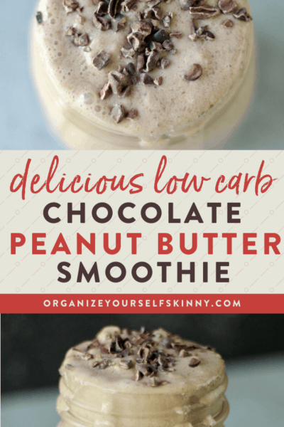 Chocolate Peanut Butter Smoothie (Low Carb Recipe)