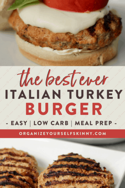 The Best Italian Burgers {Turkey Or Beef Option}