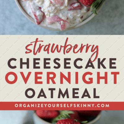 Strawberry Cheesecake Overnight Oats
