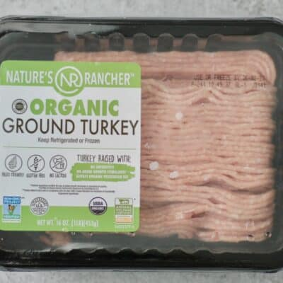 package of ground turkey