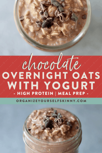 Chocolate Overnight Oats with Yogurt