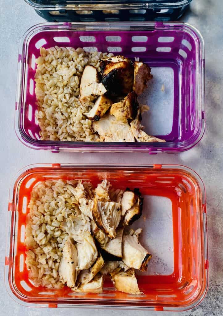 meal prep chicken bowls