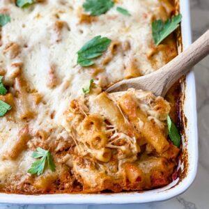 healthy baked ziti recipe