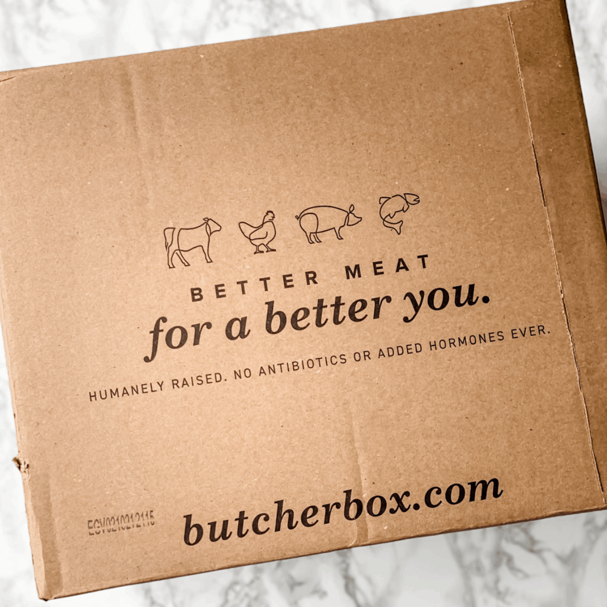 the side of a butcher box package