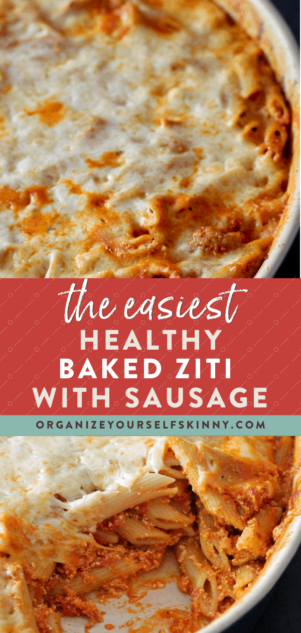 Healthy baked ziti