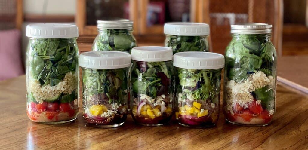 mason jar salads for the week