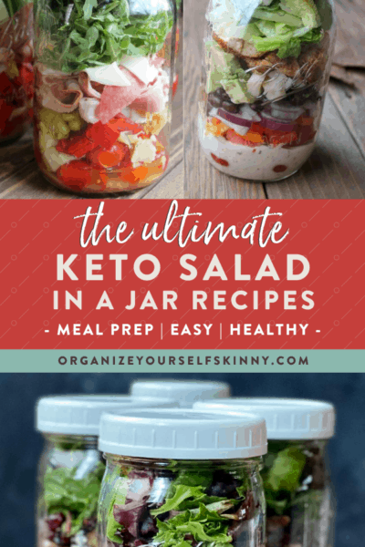 Keto Salad in a Jar Recipes (Meal Prep Ideas)