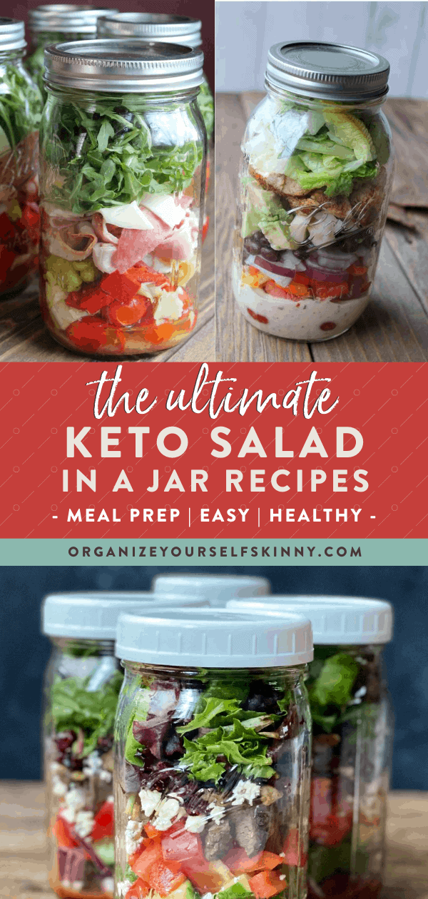 Keto Salad in a Jar Recipes