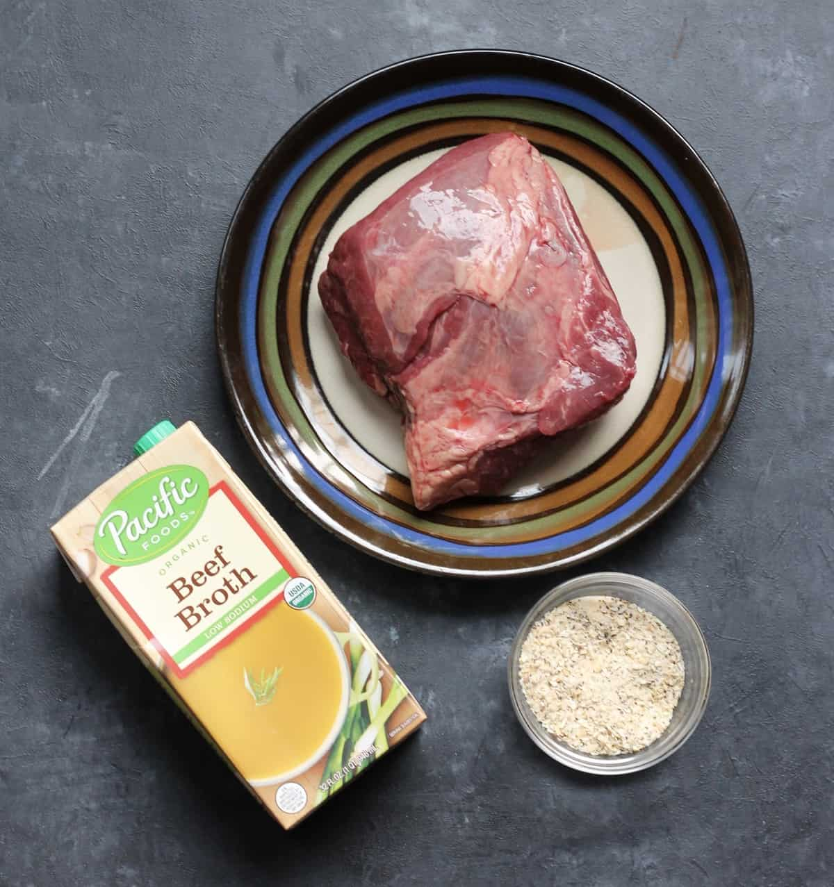pot roast with french onion soup mix and beef broth