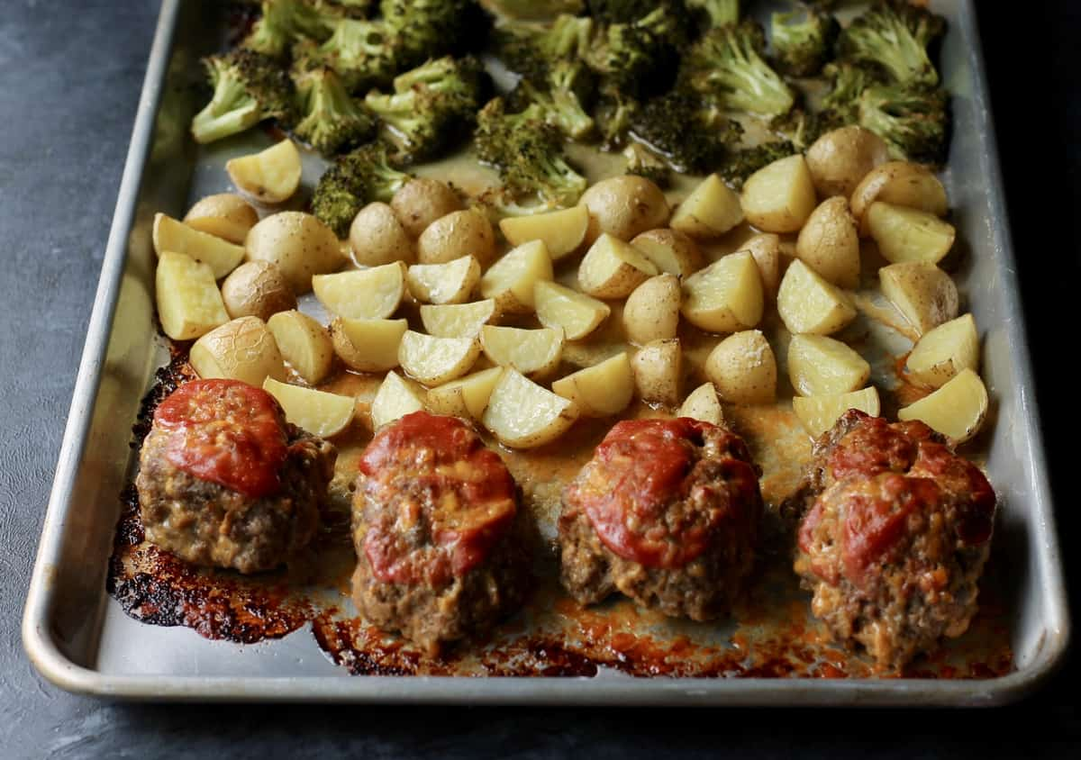 mini meatloaf recipe with veggies