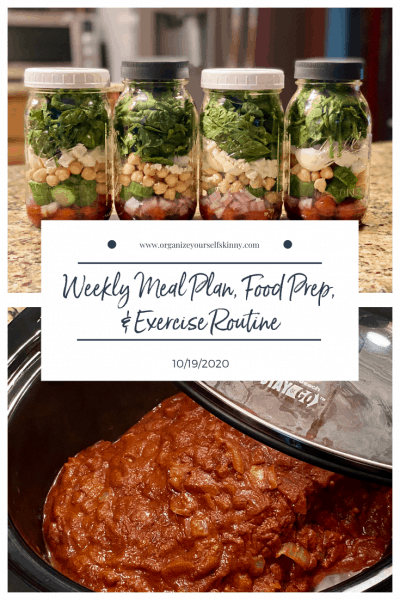 Weekly Meal Plan, Food Prep, & Exercise Routine {10/19/2020}