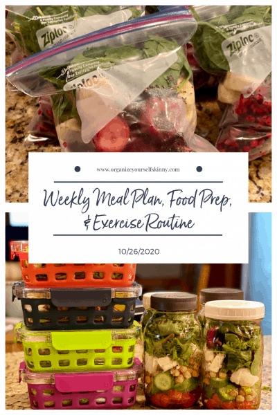 Weekly Meal Plan, Exercise Routine, and Food Prep {10/26/2020}