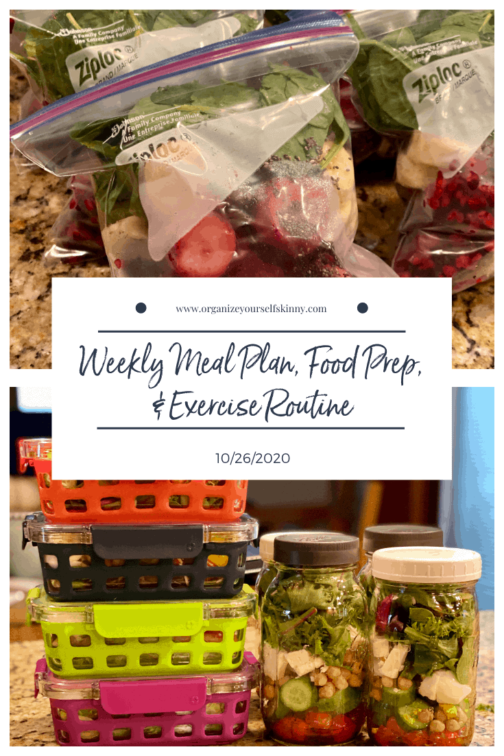 weekly meal plan Organize Yourself Skinny