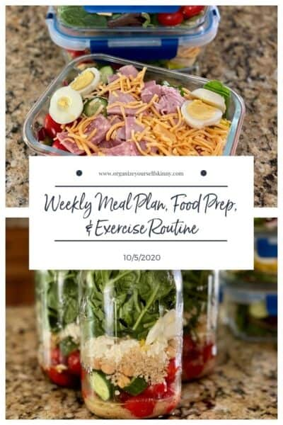 Weekly Meal Plan, Food Prep, and Exercise Routine (October 5th, 2020)