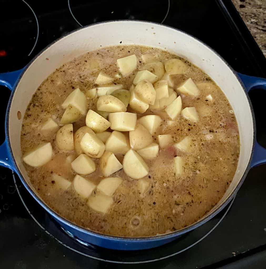 diced potatoes for cheeseburger soup