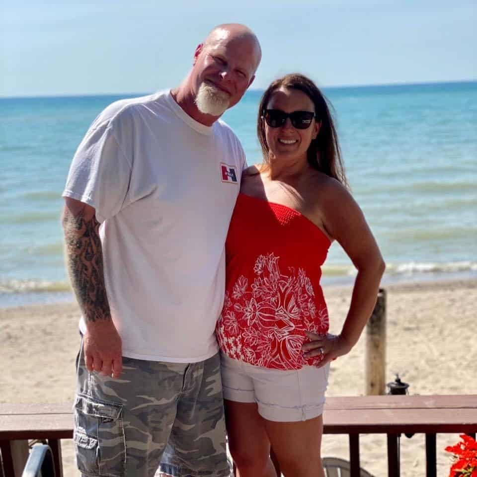 mike and I at the beach house