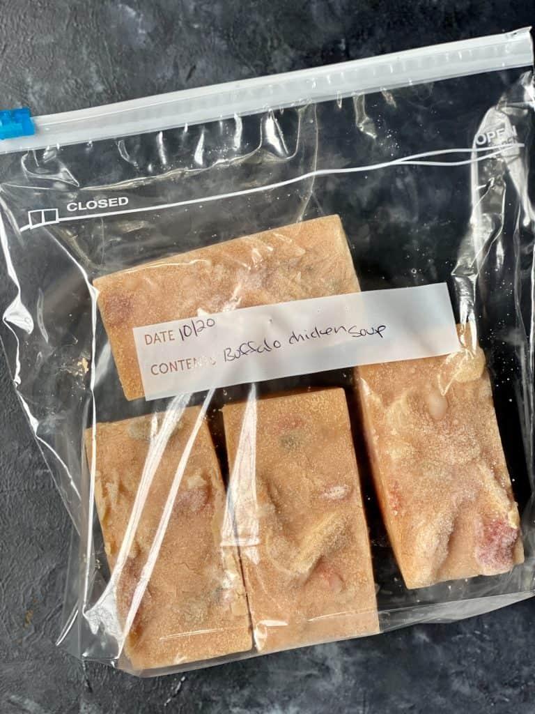 soup cubes in plastic bag