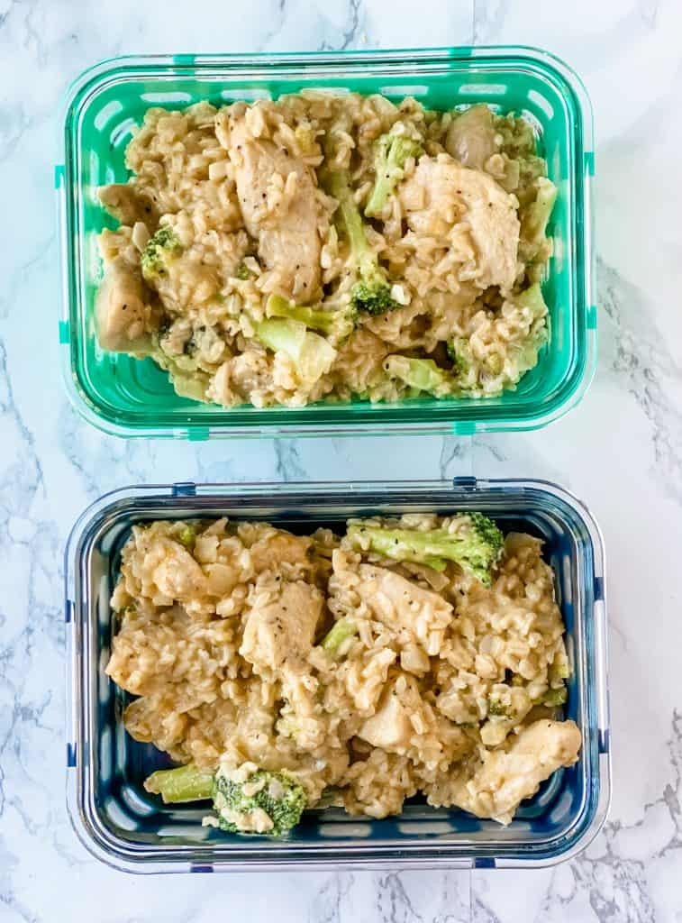 meal prep chicken and rice