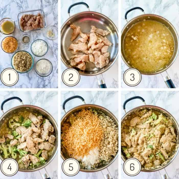 one pot chicken and rice steps