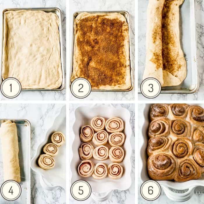 steps to make cinnamon rolls