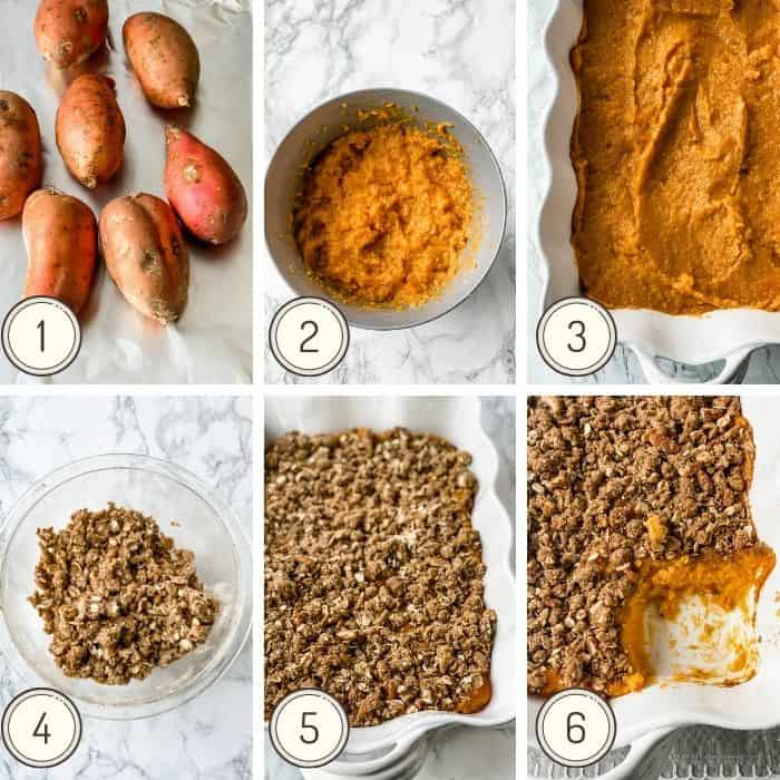 how to make healthy sweet potato casserole instructions