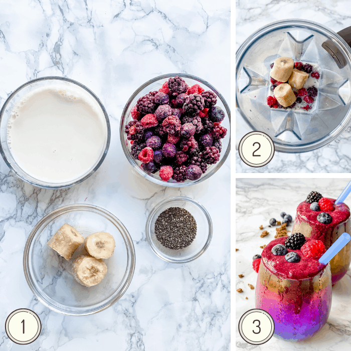 how to make a triple berry smoothie