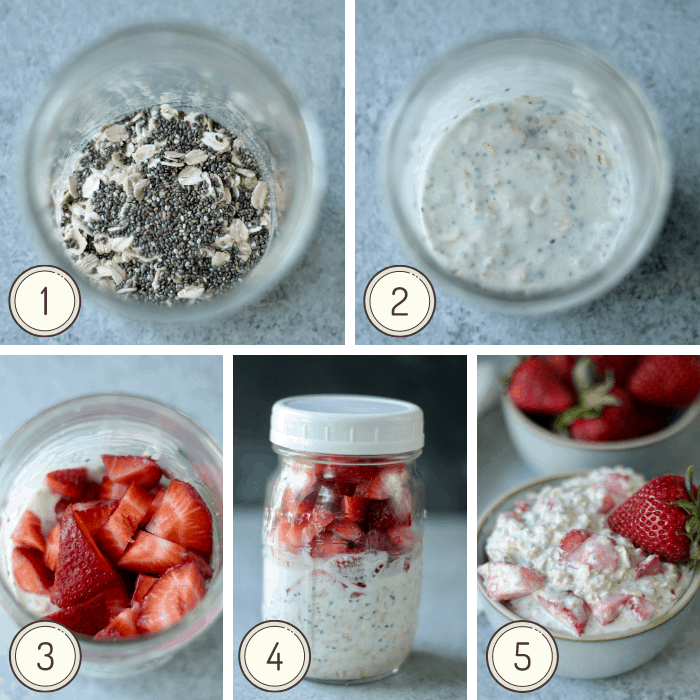 step by step photos on how to make weight loss overnight oats