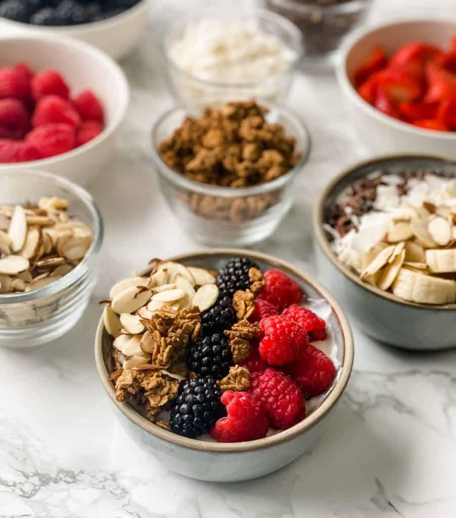 yogurt bowl topping ingredients