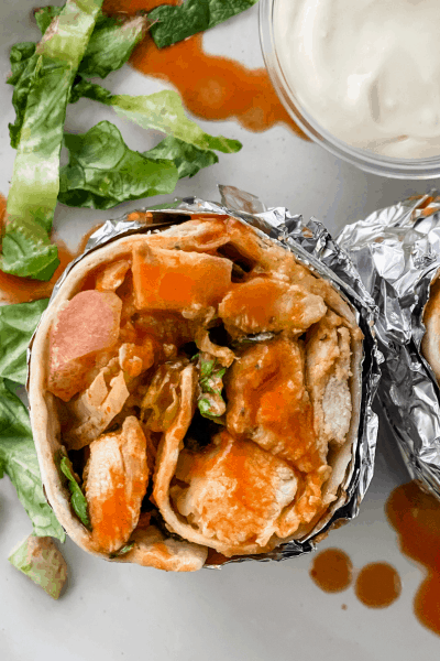 The Best Buffalo Chicken Wrap