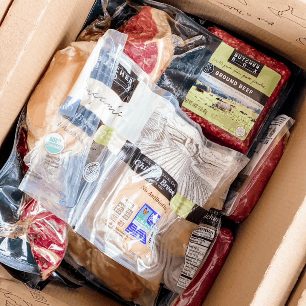 custom box of butcher box meat