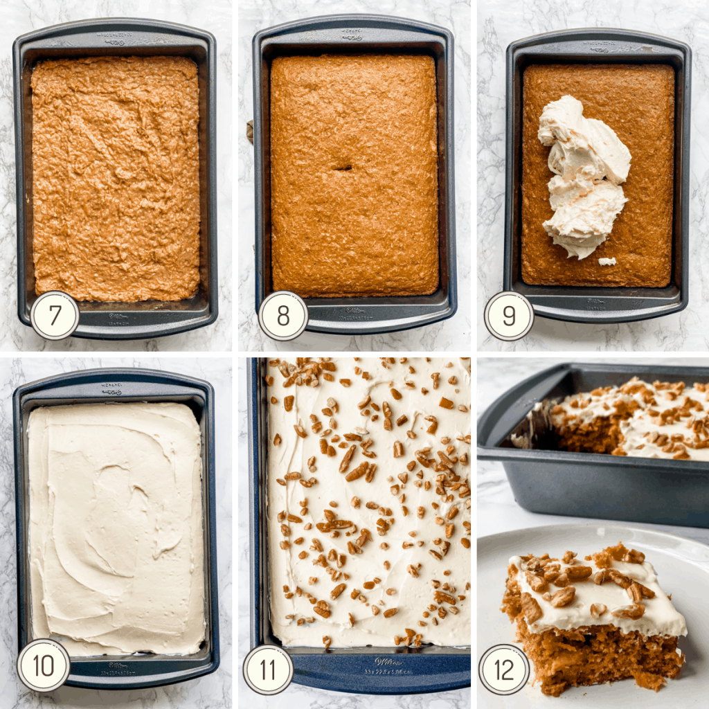 step by step instructions for making a healthy carrot cake recipe