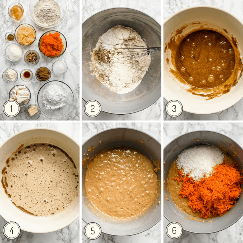 step by step carrot cake picture instructions