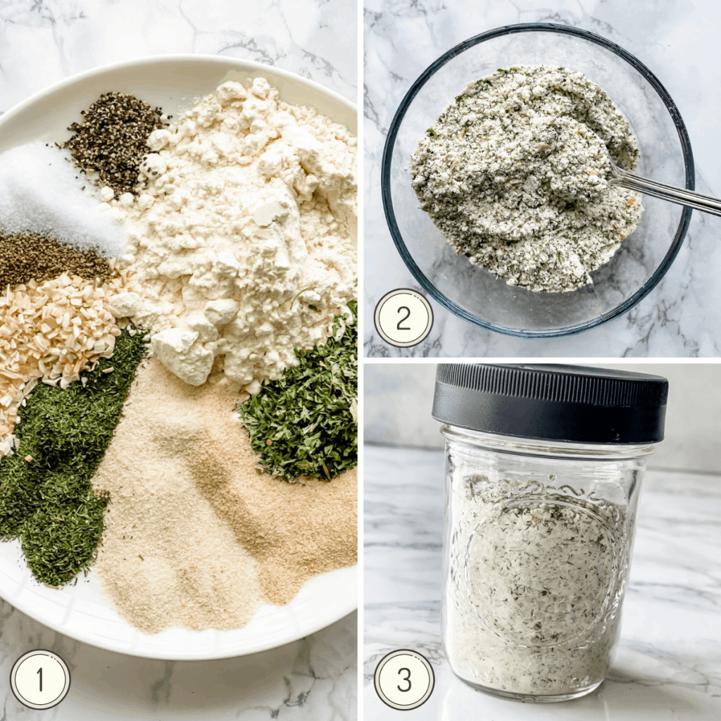 step by step photos on how to make homemade ranch dressing or dip mix