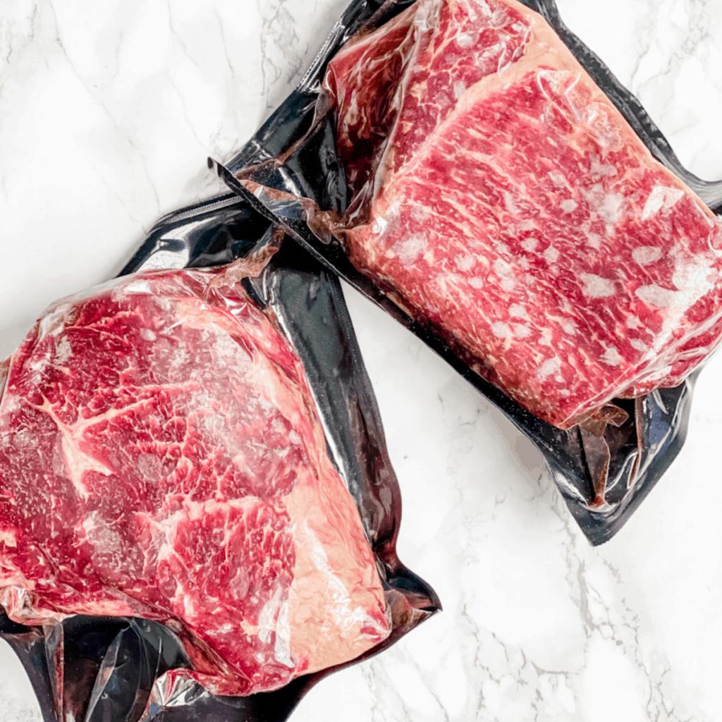 2 frozen beef roasts