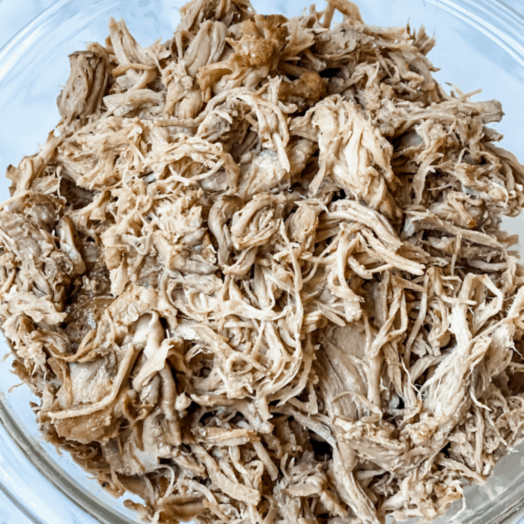 pulled pork in a bowl