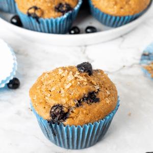 blueberry yogurt greek muffins