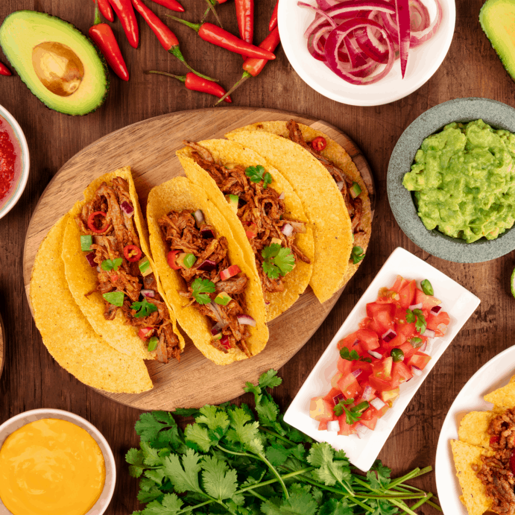 Ingredients for taco bar ideas