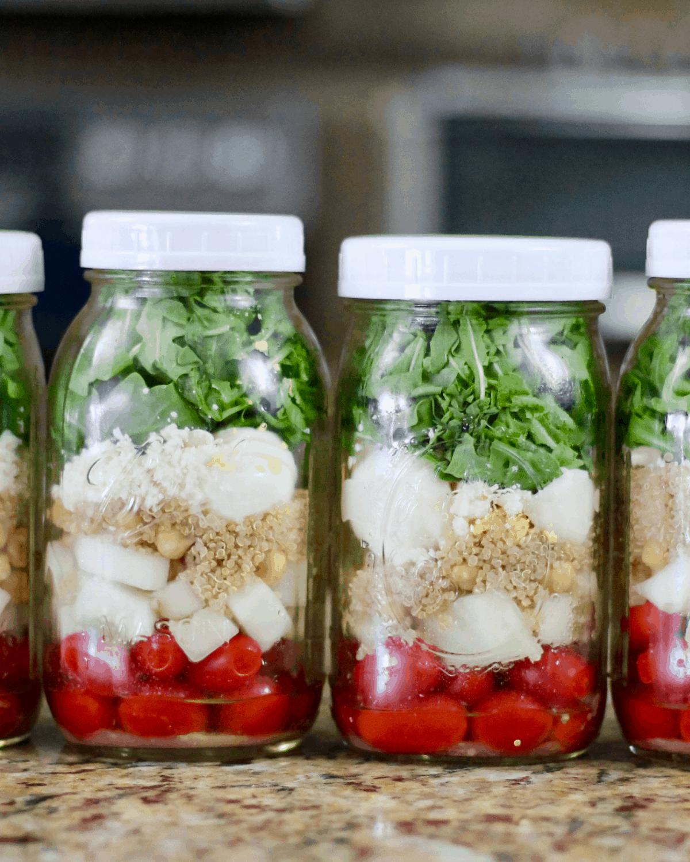 mason jar salad meal prep recipes