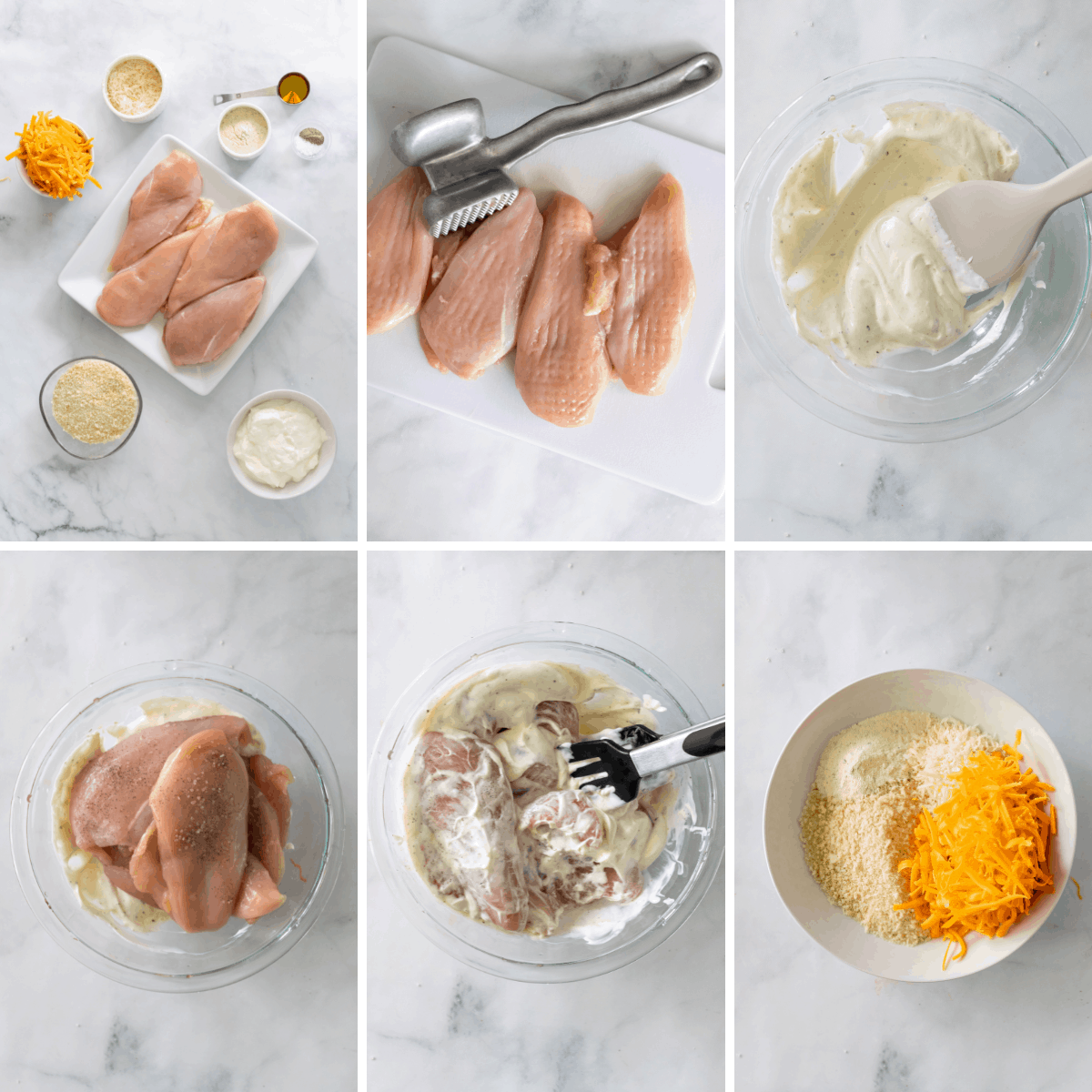 step by step how to make ranch chicken