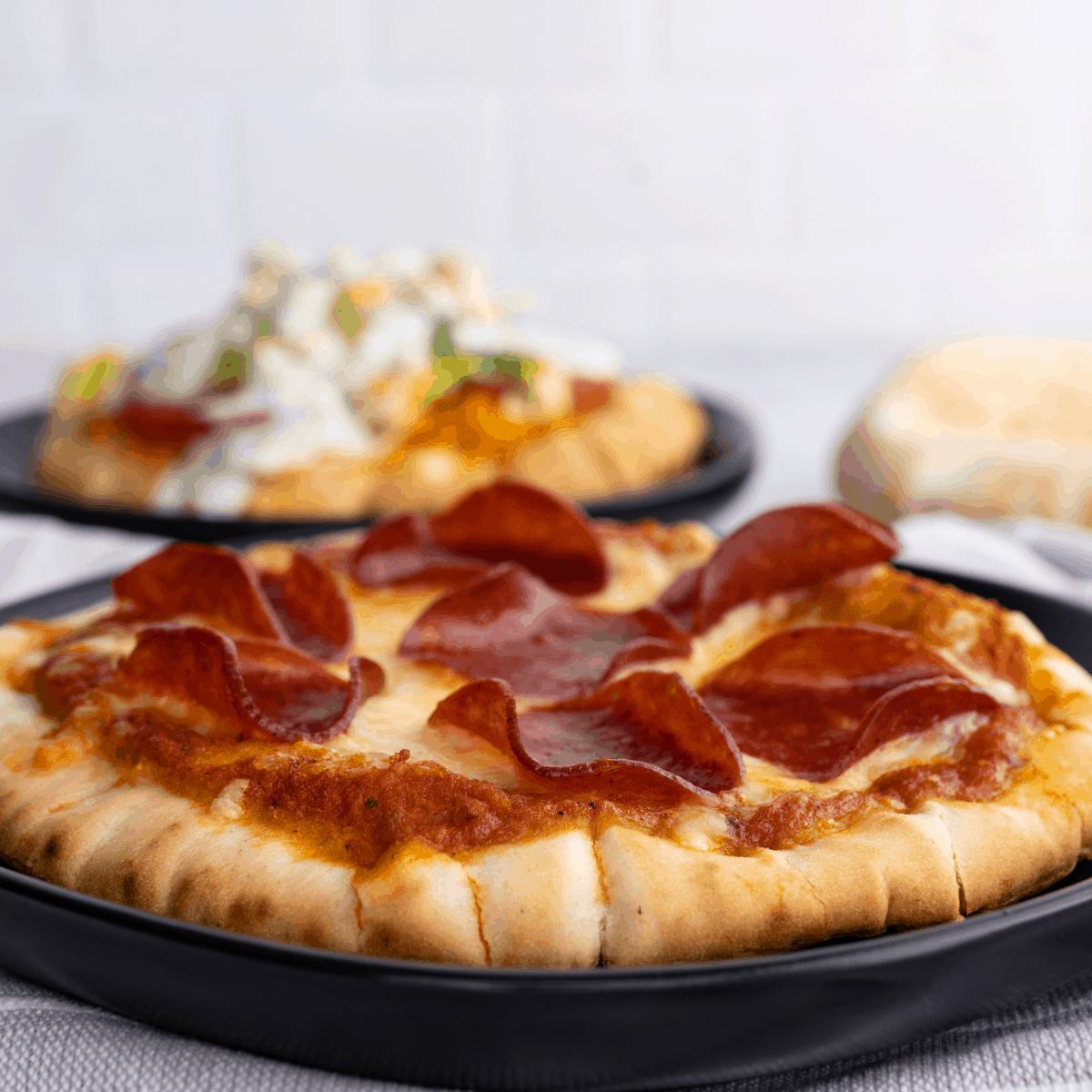 cheese and pepperoni pita pizzas